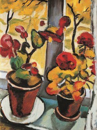 August Macke Blumen am Fenster