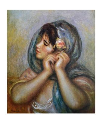 Auguste Renoir Young girl arranging her earring
