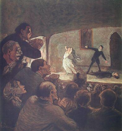 Honore Daumier Das Drama