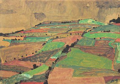 Egon Schiele Anhoehe bei Krumau (Gewitterberg)   1910