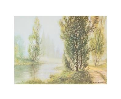 G. Neswadba Pappeln am Fluss