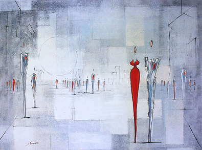 Joram Neumark Squares of the City II (Grey)