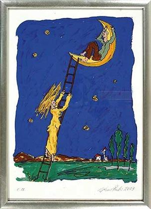 Werner Reuber Mann im Mond