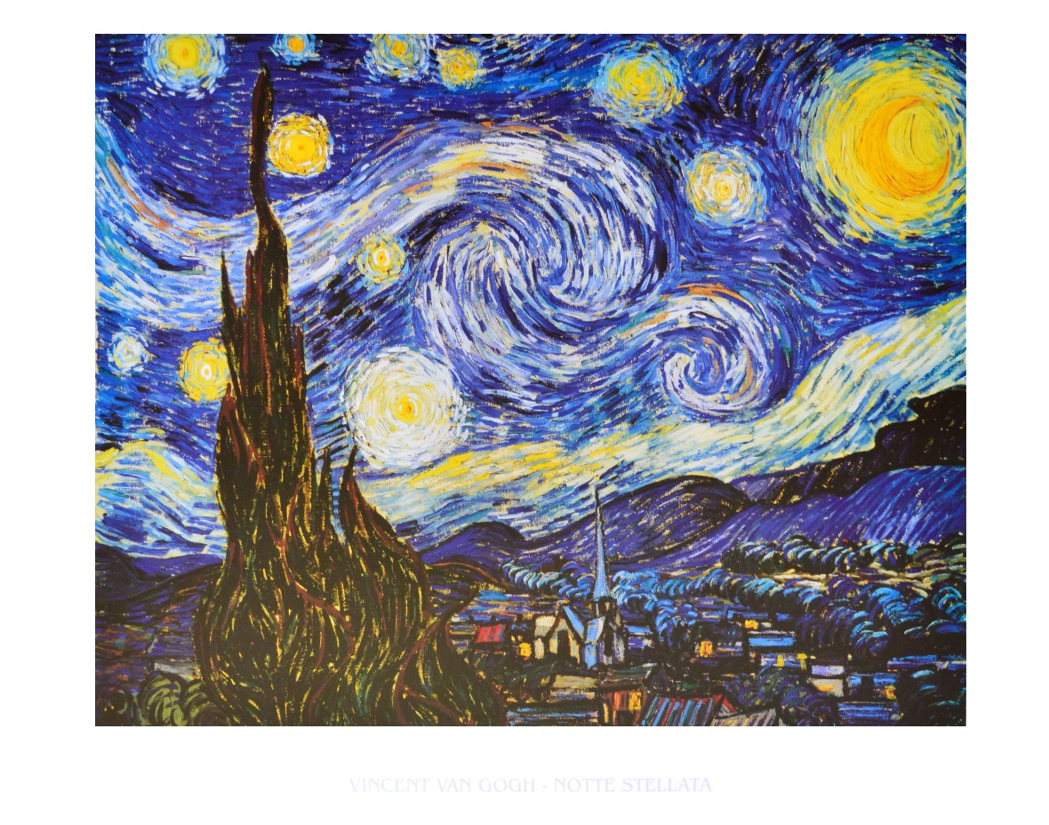 vincent van gogh sternennacht poster kunstdruck bei. Black Bedroom Furniture Sets. Home Design Ideas