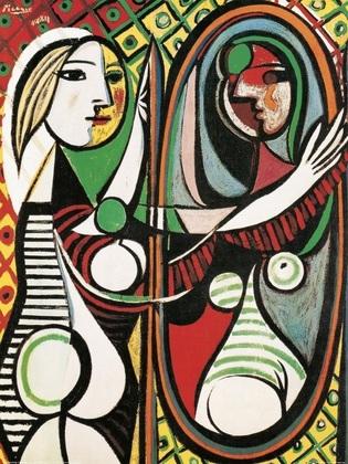 Pablo Picasso Junges Maedchen vor einem Spiegel