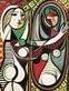Picasso pablo junges maedchen vor einem spiegel medium