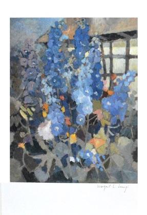 Margrit L. Lumpi Ohne Titel (Blaue Blumen)