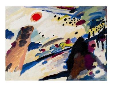 Wassily Kandinsky Romantische Landschaft
