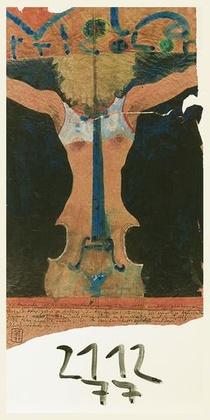 Horst Janssen Viola tricolor handsigniert