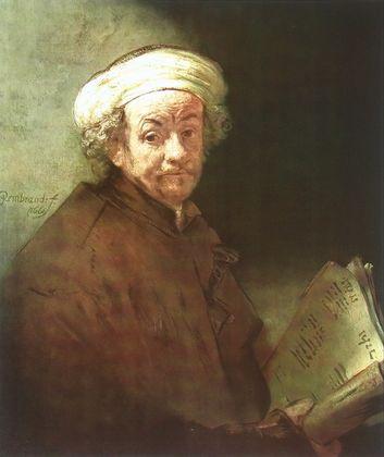 Rembrandt Selbstportrait als Apostel Paulus