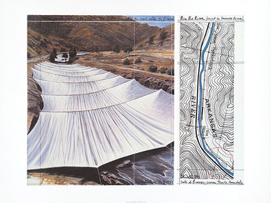 Christo Over the River VII Above