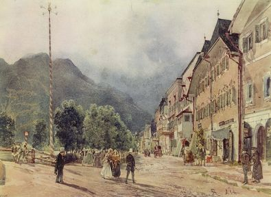 Rudolph von Alt Die Esplanade in Bad Ischl