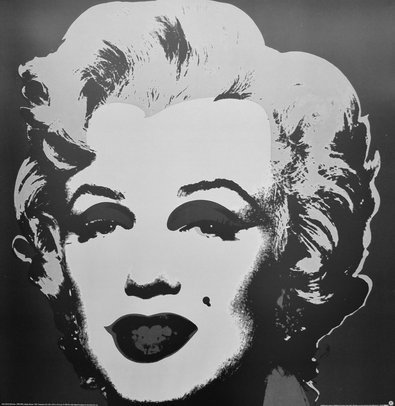 andy warhol marilyn monroe schwarz poster kunstdruck bei. Black Bedroom Furniture Sets. Home Design Ideas