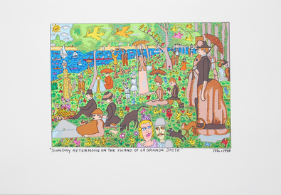 James Rizzi Sunday Afternoon On The Island Of La Grande Jatte