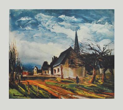 Maurice de Vlaminck Dorfstrasse mit Haeusern und Kirche