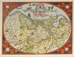 Abraham Ortelius Descrip Tio Germaniae Inferioris (Map of Germania Inferior)