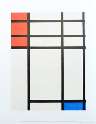 Piet Mondrian Composition in Red Blue and White 1939-41