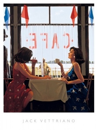 Jack Vettriano Cafe days