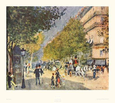 Pierre Auguste Renoir Pariser Boulevard (Juwelblatt 0155)