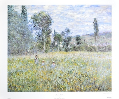 Claude Monet Across the Meadow