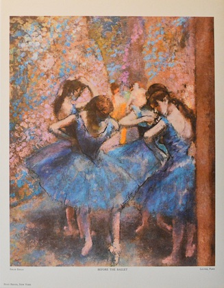 Edgar Degas Vor der Auffuehrung