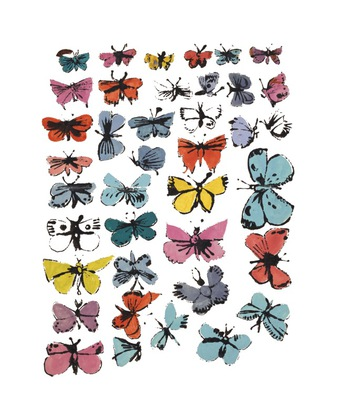 Andy Warhol Butterflies 1955 many/varied colors