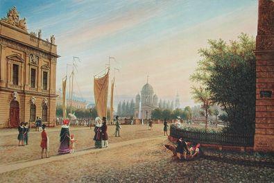 Wilhelm Bruecke Berlin   Blick von der Kommandantur zum Lustgarten