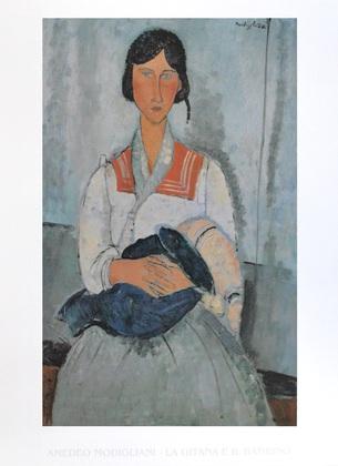 Amedeo Modigliani Zigeunerin mit Baby