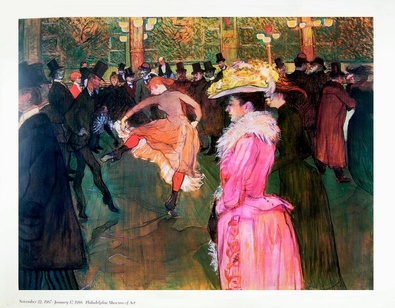 Henri Toulouse Lautrec At the Moulin Rouge: The Dance
