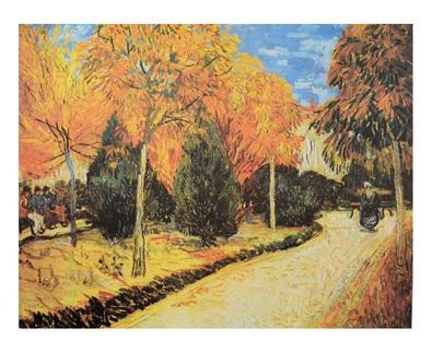 Vincent  van Gogh Weg im Park von Arles
