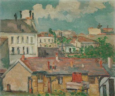 Paul Cezanne Vorort im Fruehling