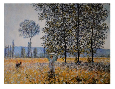 Claude Monet Felder im Fruehling