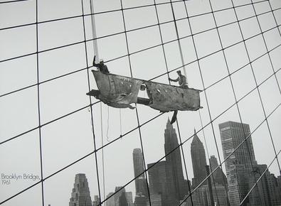Bettmann Working at the Brooklyn Bridge