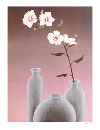 Schlichtholz Graue Vase