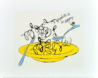 Andy Warhol Spaghetti is So Slippery c.1958