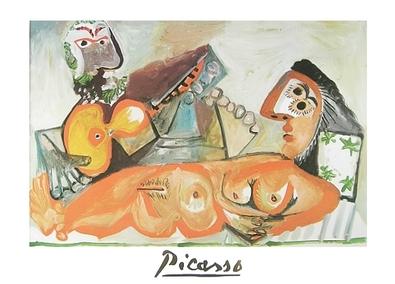 Pablo Picasso liegender Akt und Musiker
