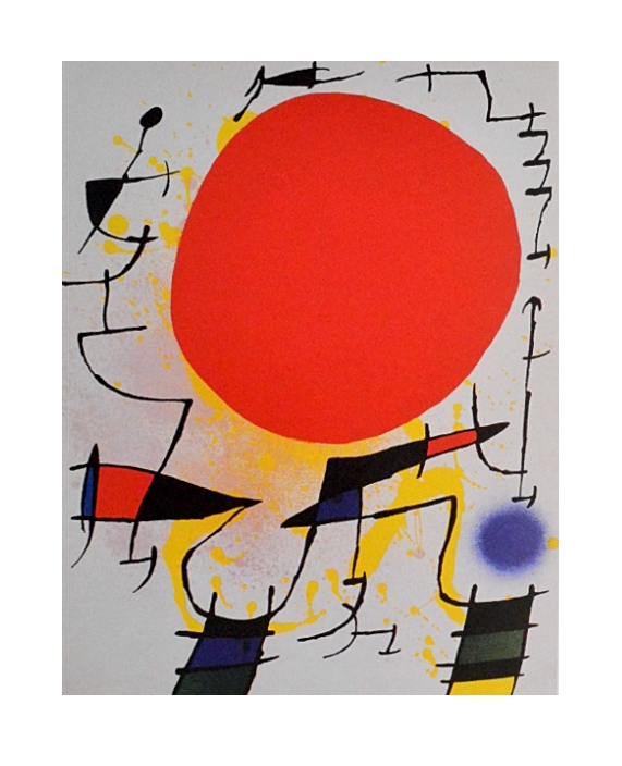 joan miro rote sonne poster kunstdruck bei. Black Bedroom Furniture Sets. Home Design Ideas
