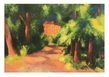 Macke august rotes haus im park 41980 medium