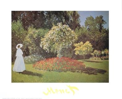 Claude Monet Dame im Garten von Sainte-Adresse