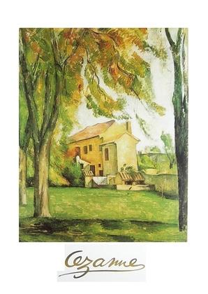 Paul Cezanne Kastanienbaeume und Hof bei Jas De Bouffan