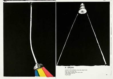Jim Dine und Sam Francis 144-145 (One Cent Life) zweiteilig