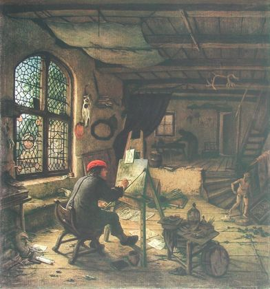 Adriaen van Ostade Der Maler in seiner Werkstatt