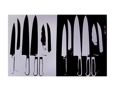 Andy Warhol Knives (silver and black), 1982