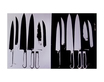 Warhol andy knives silver and black 1982 medium
