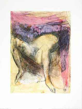 August Rodin Femme nue de dos agenouill ees et les main sur