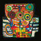 Hundertwasser friedensreich the blob grows in the flower pot medium
