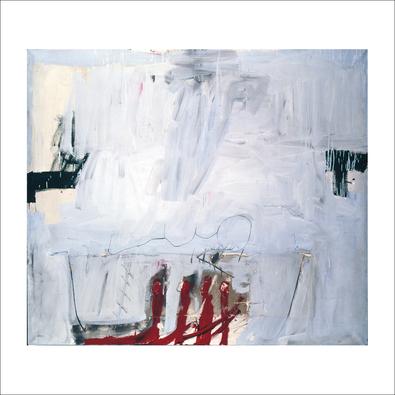 Antonio Tapies Blau mit vier roten Staeben, 1966