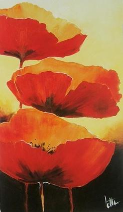 Jettie Roseboom Three Red Poppies I