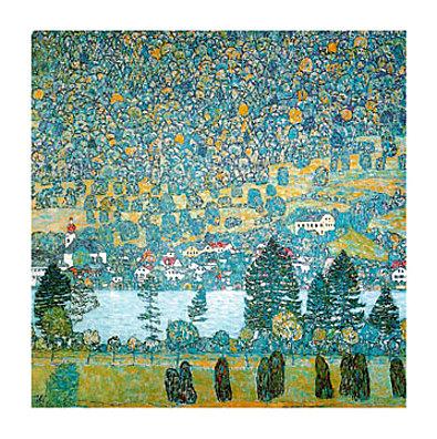 Gustav Klimt Pendio montano a Unterach