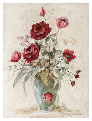 Peggy Abrams Crimson Roses I